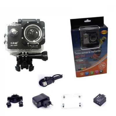 WEBCAM SUBACQUEA 30MT PRO GO HD 1080P WIFI SPORT CAMERA LINQ A-S050C